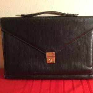 Vintage BALLY Brown Leather & Suede Briefcase
